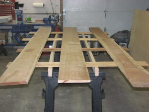 Cradle boards with pieces laid out.