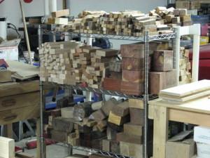 Turning wood storage